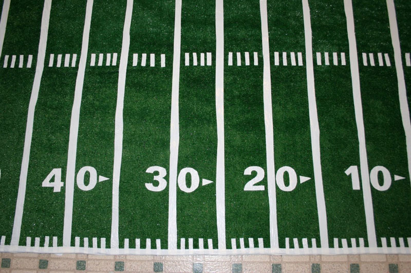 Make A Football Field Rug