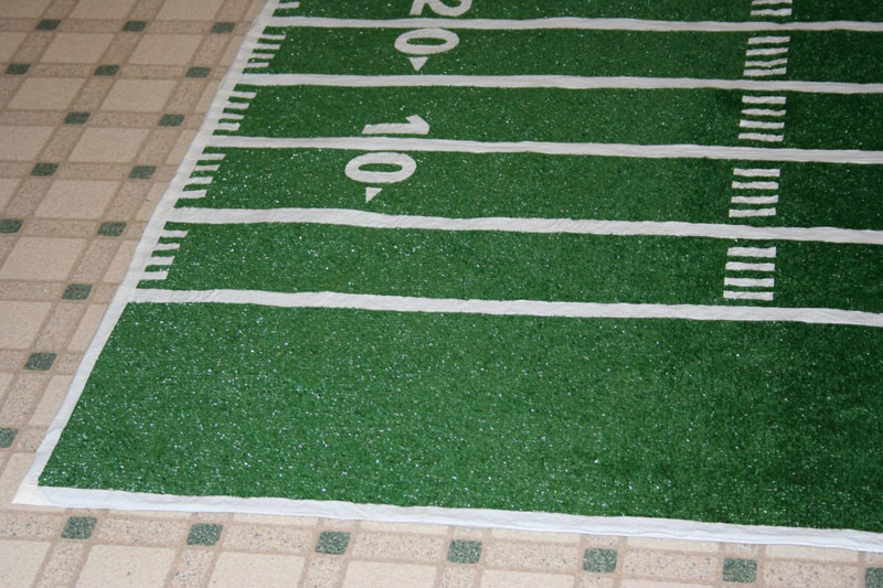 How To Make A Football Field In Backyard : Make a football field rug  Chica and Jo
