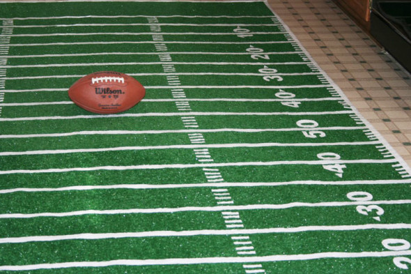 DIY football field rug
