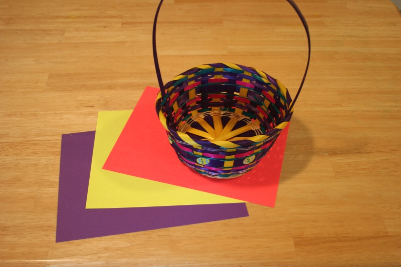 make your own Easter basket grass