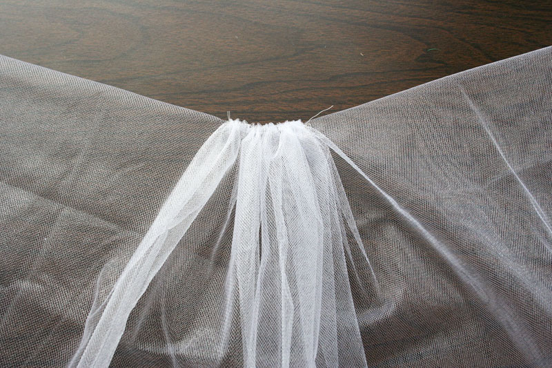 This Veil Was Gathered In The Middle Only So There Is No Sching On Sides