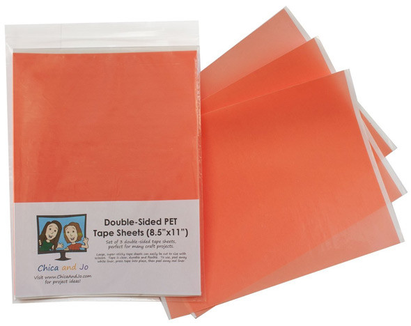 double-sided red liner tape sheets