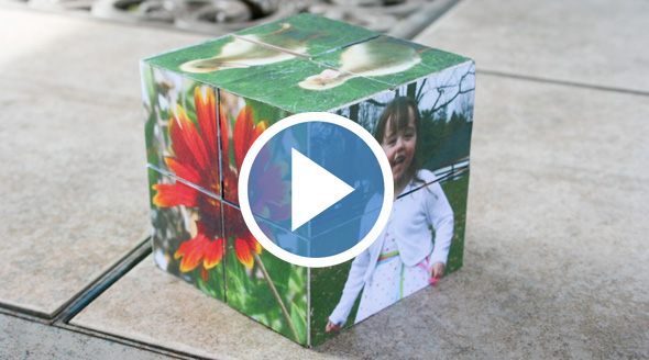 """Create """"magic"""" folding wooden photo cubes   Chica and Jo"""