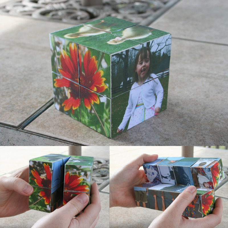 "Create ""magic"" folding wooden photo cubes"