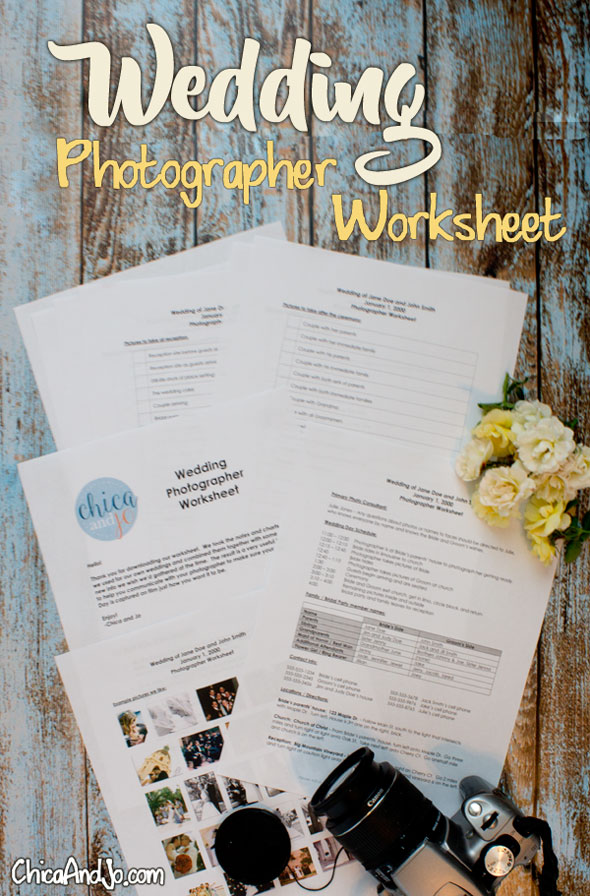 wedding photographer worksheet and checklist chica and jo. Black Bedroom Furniture Sets. Home Design Ideas
