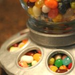 Turn a Mason jar bird feeder into a candy dispenser