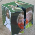 Magic folding photo cubes