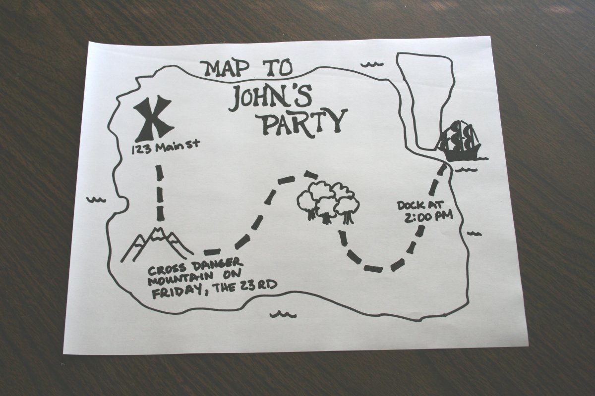 Make a pirate party invitation | Chica and Jo