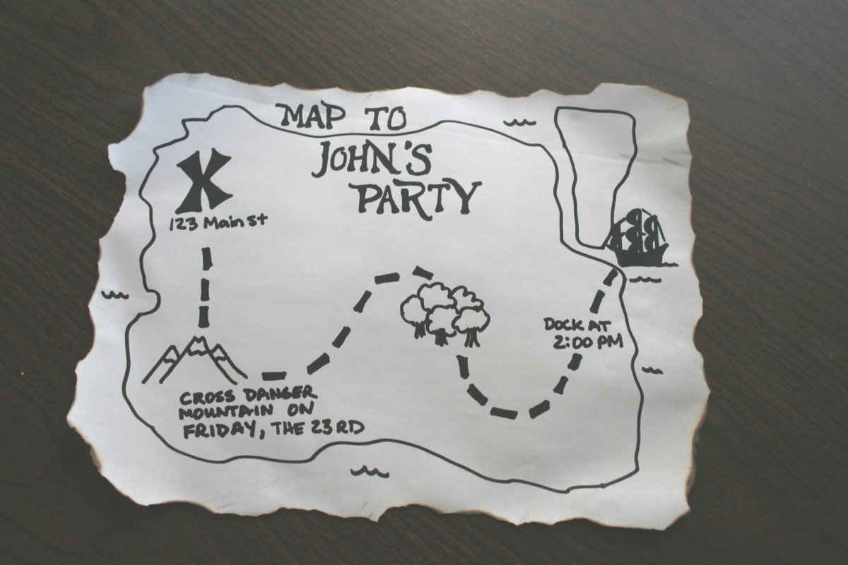 Make a pirate party invitation – Pirate Party Invite