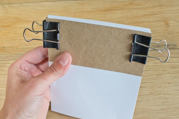 make your own notepads with padding compound