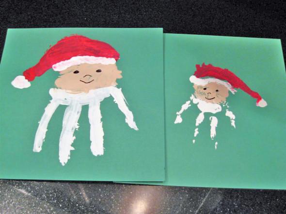 Create a Christmas keepsake with kid handprints