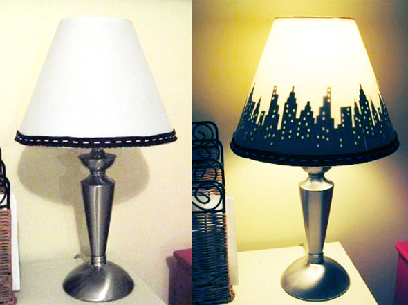 Create A Custom Silhouette Lamp Shade