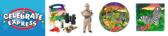 Order zoo party supplies at Celebrate Express!
