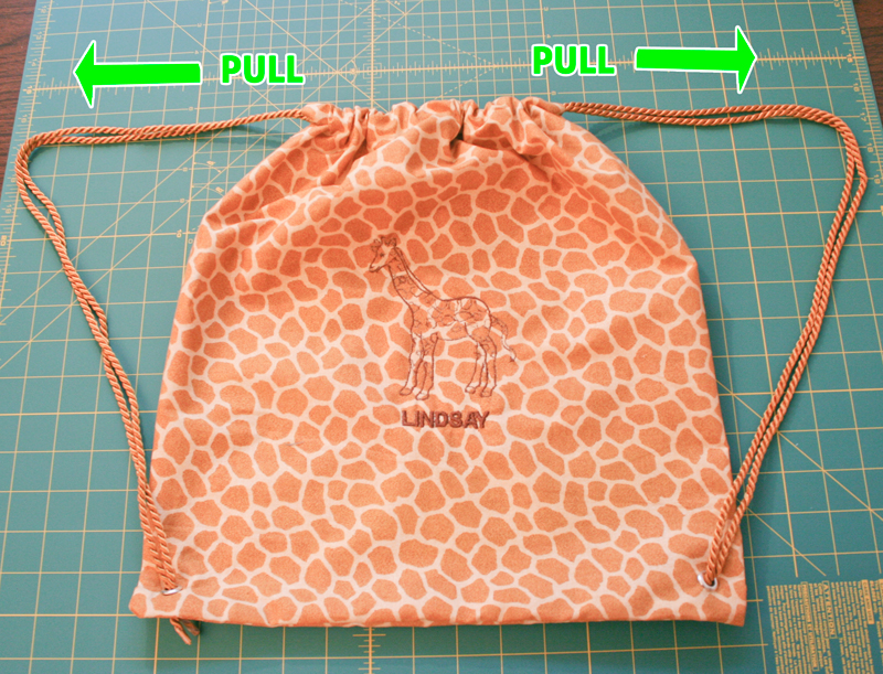 How To Make A Drawstring Backpack Chica And Jo