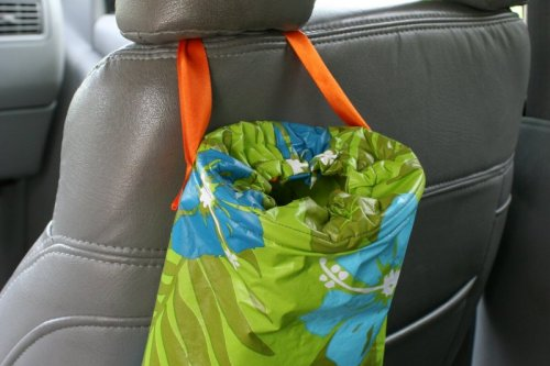 Make a trash bag for the car