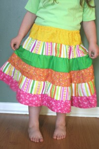 tiered ruffled skirt