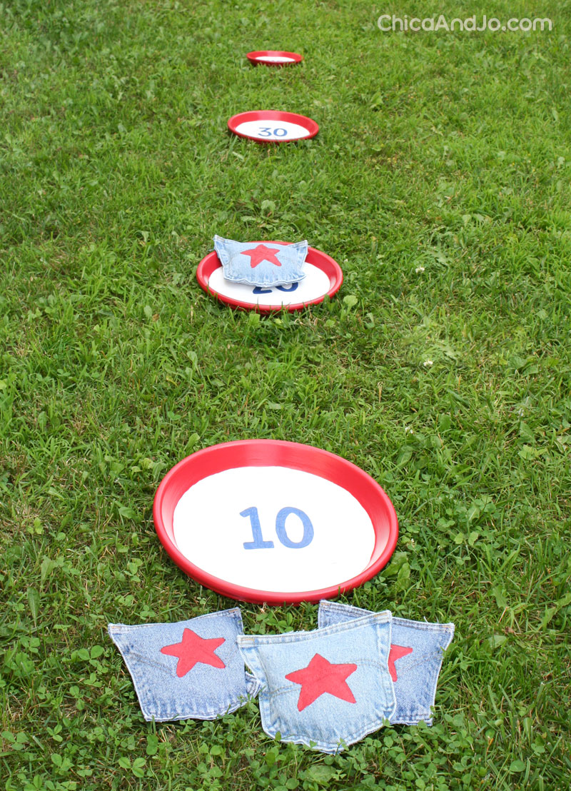Make A Bean Bag Toss Game Chica And Jo