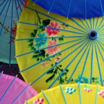 Use parasols as party decorations