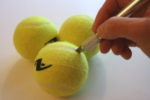tennis juggling balls