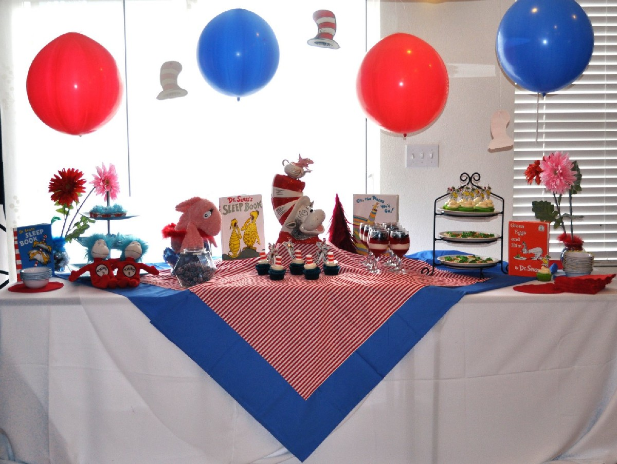 Dr. Seuss party items with you all. Especially the cute Dr. Seuss baby