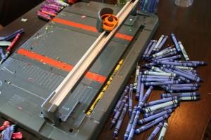 peeling crayons