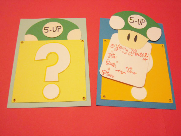 Super Mario Brothers Birthday Party Invitation Chica And Jo