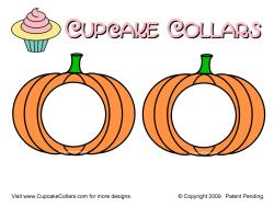 Pumpkin Cupcake Collars