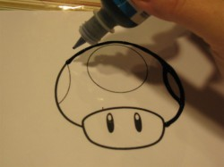 Super Mario Brothers paint clings