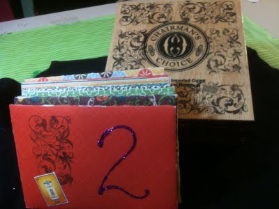 Crafty Chica's advent calendar envelopes