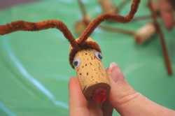 reindeer cork ornament
