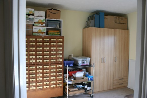 Chica's reorganized craft room