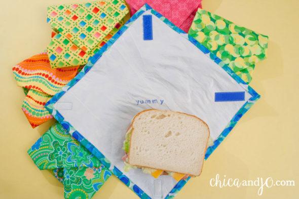Fused plastic sandwich wraps