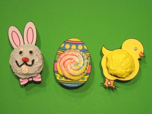 Cupcake Collars Easter bunny egg chick