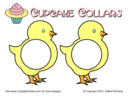 Cupcake Collar Easter chick cupcakes
