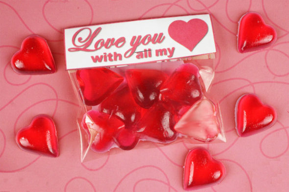 Valentine's Day heart candy