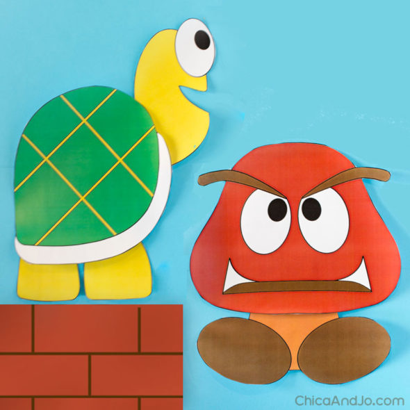 Super Mario Brothers characters wall decor | Chica and Jo