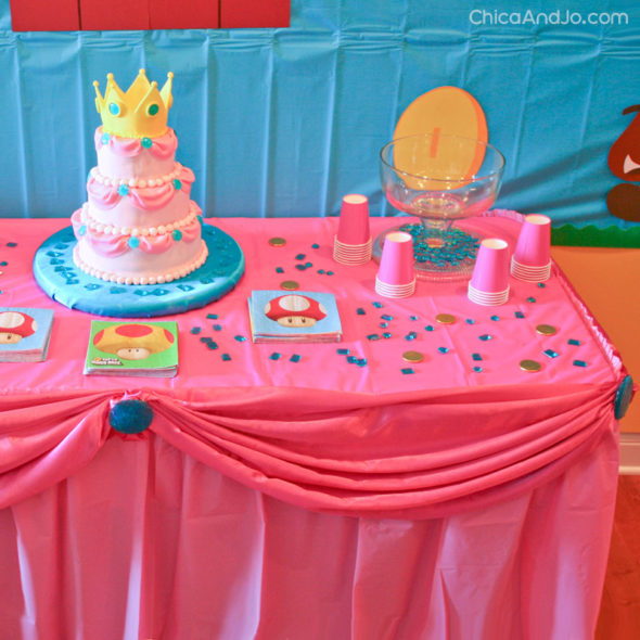 Super Mario Birthday Party Featuring Princess Peach