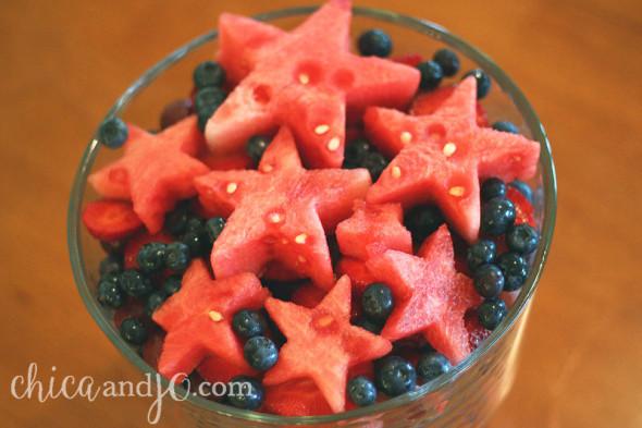 Star-shaped fruit salad