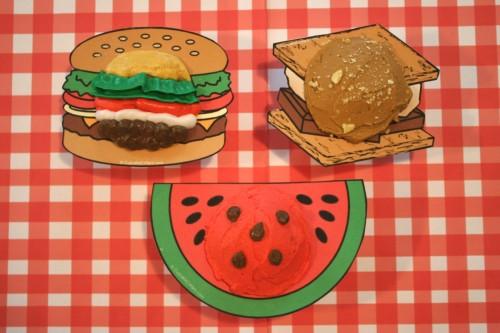 cookout Cupcake Collars hamburger watermelon smores cupcakes