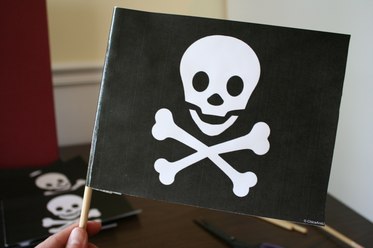 Трафарет черепа с костями распечатать