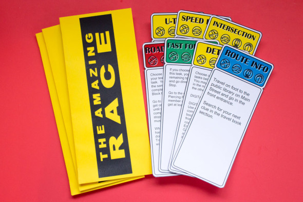 amazing race clues and envelopes