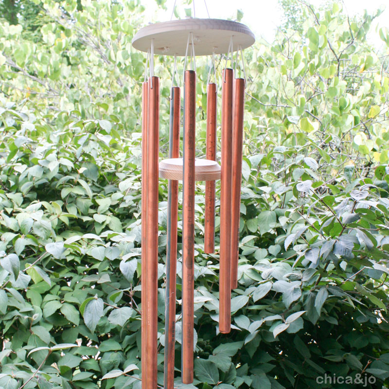 Make Copper Wind Chimes Chica And Jo