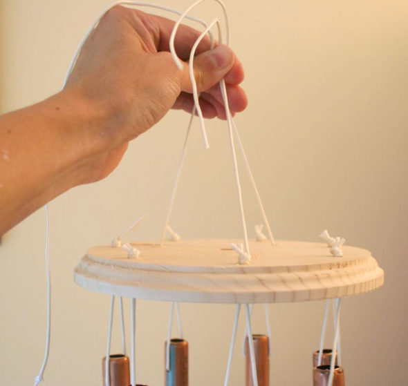 DIY copper wind chimes tutorial