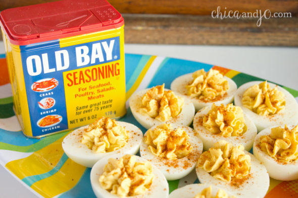 Old Bay deviled eggs recipe | Chica and Jo
