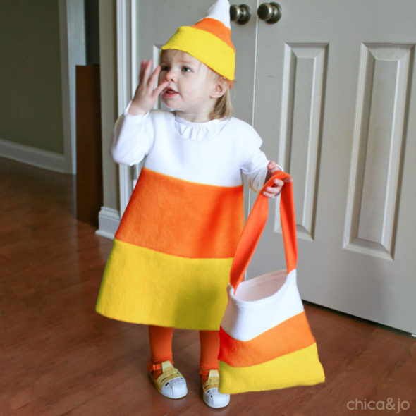 Easy Candy Corn Costume For Kids Chica And Jo