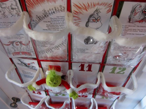 Grinch Advent Calendar by Chica & Jo