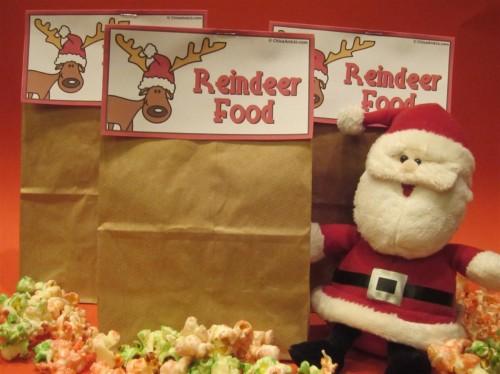 Christmas popcorn treat bags