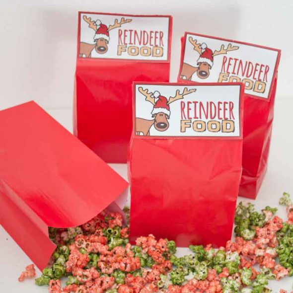 """""""Reindeer Food"""" Christmas popcorn treat bags"""