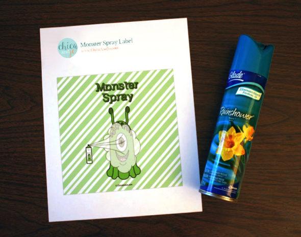 monster repellent spray printable label