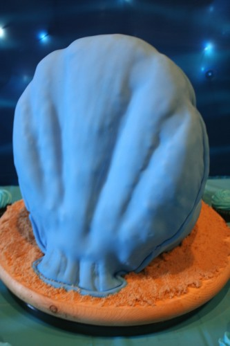 under the sea oyster shell cake